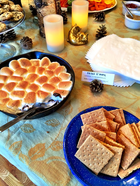 S'more dessert - camping themed bridal shower - cultivatedrambler.com