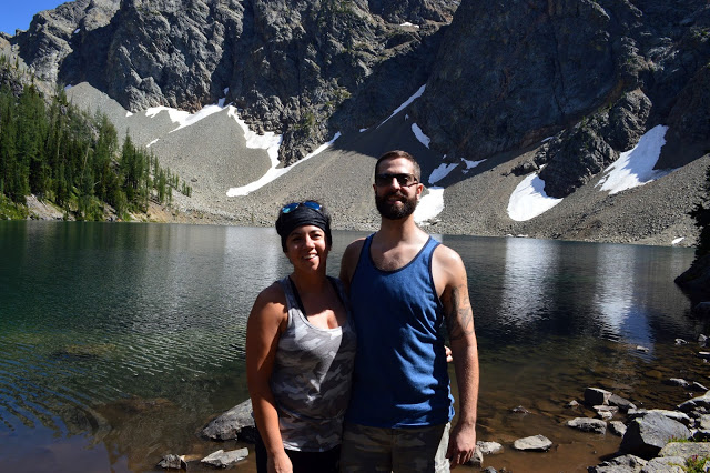 A couple enjoying the Blue Lake Hike - cultivatedrambler.com