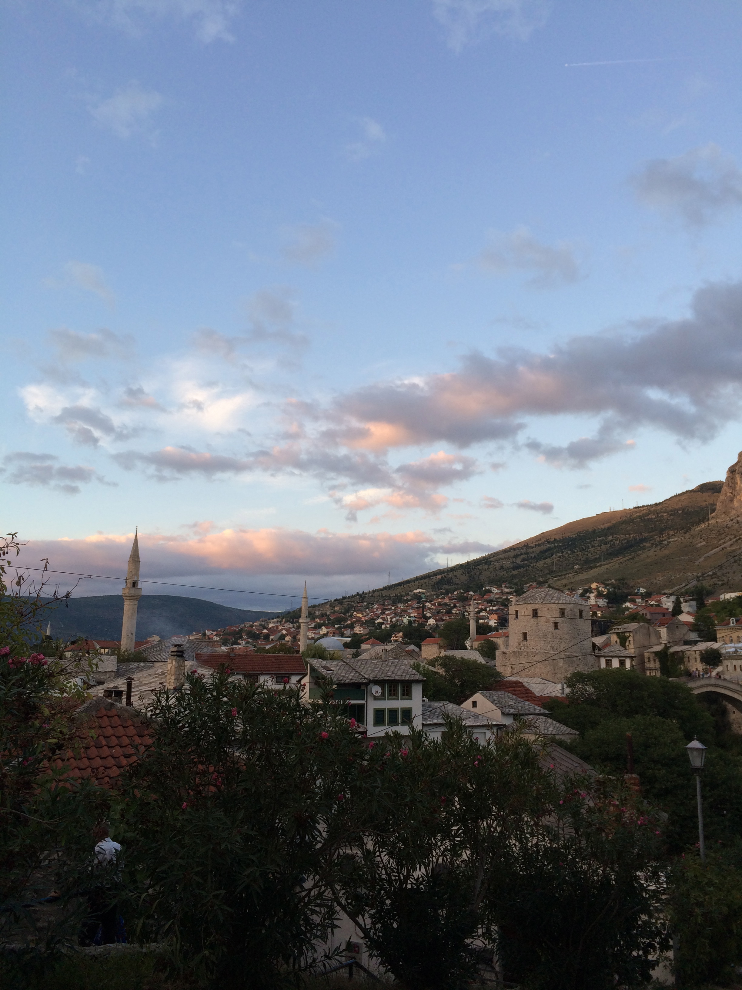 Sunset over Mostar, Bosnia - cultivatedrambler.com