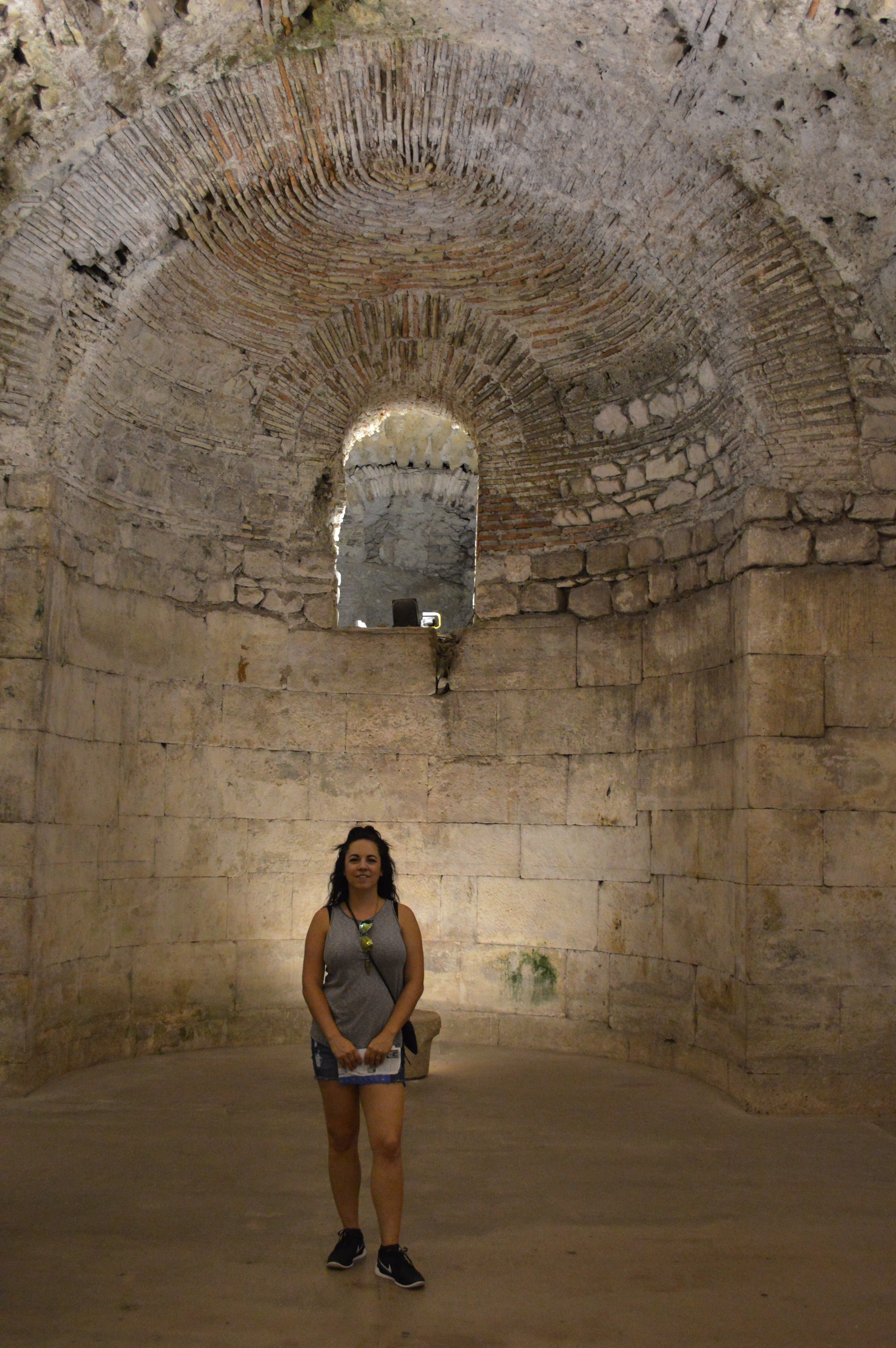 Diocletian's Palace cellars in Split, Croatia - cultivatedrambler.com