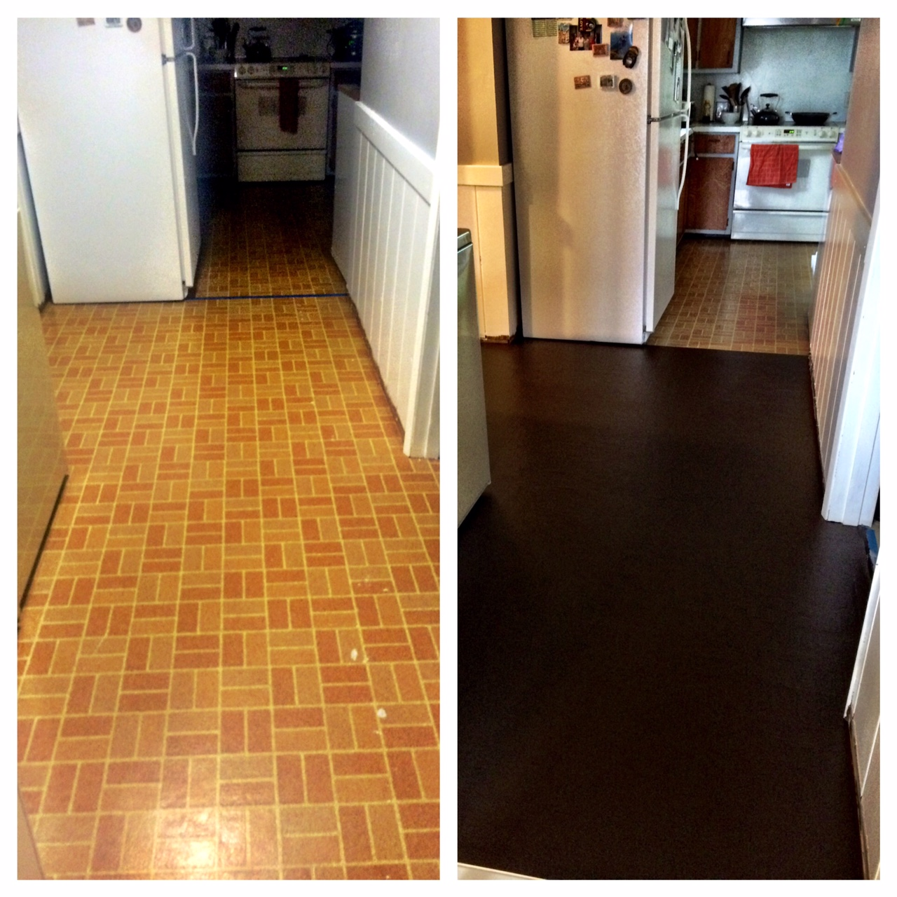 The good and the bad when painting linoleum floors